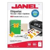 ETIQUETAS AUTOADHERIBLES T. CARTA C/100 JANEL